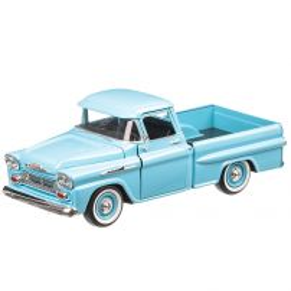 Chevrolet Apache Fleetside Pick Up 1958, macheta autoutilitara, scara 1:24, bleu, Motormax