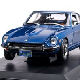 Datsun 240Z 1971, macheta auto scara 1:18, bleu, Maisto