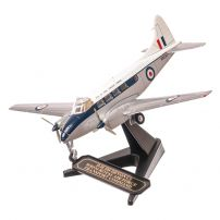 De Haviland DH 104 Devon WB534 RAF Transport Command, argintiu, macheta avion scara 1:72, Oxford