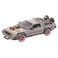 DeLorean-Back to the Future III 1990, macheta auto, scara 1:24, gri, window box, Welly
