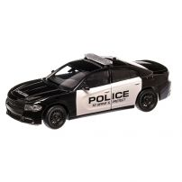 Dodge Charger Pursuit Police 2016, macheta auto, scara 1:24, negru cu alb, window box, Welly