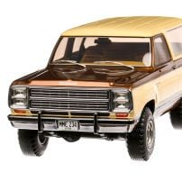 Dodge Ramcharger 1979, macheta  auto, scara 1:18, bej cu maro, BoS-Models