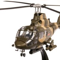 Elicopter Harbin Z-9G China 1981, macheta elicopter scara 1:72, camuflaj verde, Atlas