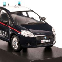 Fiat Grande Punto Carabinieri 2005, macheta auto, scara 1:43, albastru inchis, Magazine models