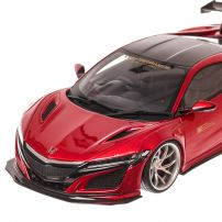 Honda NSX-LB Works, macheta auto scara 1:18, rosu metalizat, window box, GT Spirit