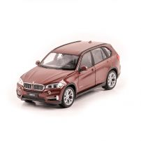 BMW X5 2015 , macheta auto scara 1:24, maro metalizat, Welly