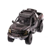 Ford F-150 RAPTOR 2017, macheta auto scara 1:24, negru mat, window box, Maisto