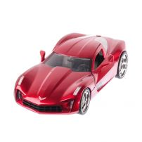 Corvette Stingray Concept 2009, macheta auto scara 1:24, rosu metalizat, window box, Jada Toys
