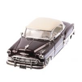 Chevrolet Bel Air  seria Lowrider 1953, macheta auto scara 1:24, maro inchis metalizat  si plafon alb, window box, Jada Toys
