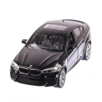 BMW X6M 2018, macheta auto scara 1:24, negru, window box, Rastar