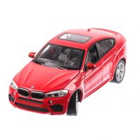 BMW X6M 2018, macheta auto scara 1:24, rosu, window box, Rastar