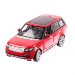 Range Rover 2014, macheta auto scara 1:24, rosu cu negru, window box, Rastar