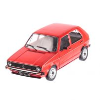Volkswagen Golf I 1983, macheta auto scara 1:18, rosu, window box, Solido
