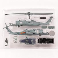 Elicopter Sikorsky SH-60 Sea Hawk 1990, macheta elicopter, scara 1:60, kit construibil, gri, New Ray