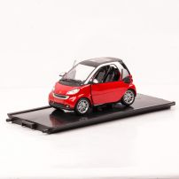 Smart Fortwo 2007, macheta auto, scara 1:24, rosu, New Ray