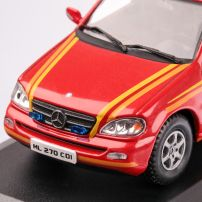 Mercedes-Benz ML 270 CDI GERMANFIRE DEPARTMENT 2010, macheta auto scara 1:43, rosu, carcasa plexic, Magazine models