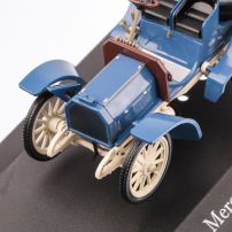 Mercedes-Benz 40HP SIMPLEX 1902, macheta auto scara 1:43, bleu, carcasa plexic, Magazine models