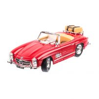 Mercedes-Benz 300SL Touring Cabrio 1957, macheta auto scara 1:18, rosu, window box, Burago