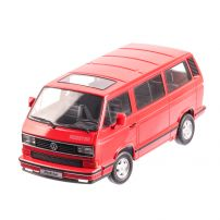 Volkswagen T3 RED STAR 1993, macheta auto scara 1:18, rosu, Limited Edition, KK SCALE