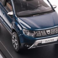 Dacia Duster 2018, macheta auto scara 1:43, albastru, window box, Norev