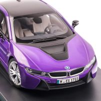 BMW i8 2017, macheta auto scara 1:18, purple pearl, Paragon