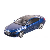BMW M6 Gran Coupe 2014 Resin serie, limited edition, macheta auto scara 1:18, albastru, GT Spirit