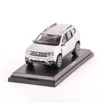 Dacia Duster 2018, macheta auto scara 1:43, argintiu, window box, Norev