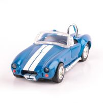 Shelby Cobra 427 1966, macheta auto  scara 1:32, bleu cu alb, New Ray