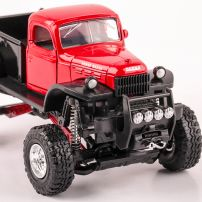 Dodge Power Wagon 1946 scara 1:32, rosu cu negru, monster-truck, New Ray