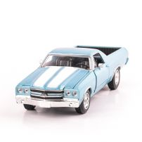 CHEVROLET CAMINO 1970, scara 1:24, bleu cu alb, window box, New Ray