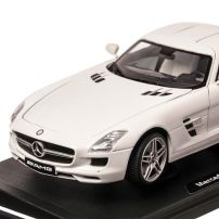 Mercedes-benz SLS AMG, macheta auto scara 1:18, alb, window box, Motor Max