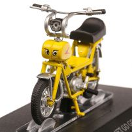 Italjet Go Go 1968, macheta motocicleta, scara 1:18, galben, Atlas