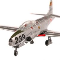 Lockheed T-33A Japan Air Self Defense 1948, macheta avion, scara 1:100, argintiu, Atlas