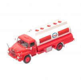 MAN 626 H cisterna ESSO 1967, macheta autocamion scara 1:43, alb cu rosu , window box, Atlas