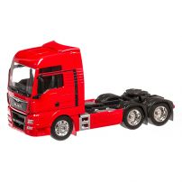 MAN TGX 26.440 2016, macheta cap tractor scara 1:32, rosu, Welly