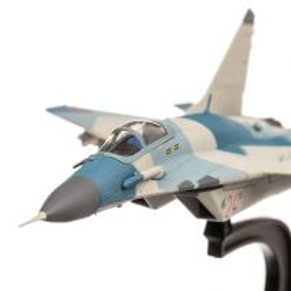 MIG-29SMT Fulcrum Russian AF 5AvGr 7000AvB 2012, macheta avion, scara 1:100, camuflaj albastru, Atlas