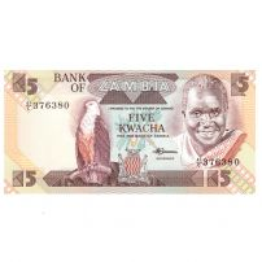 Monede si Bancnote de pe Glob Nr.218 - 5 kwacha