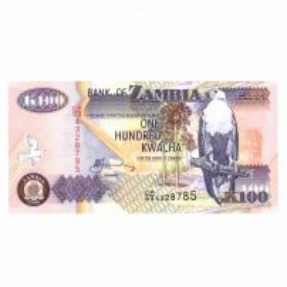 Monede si Bancnote de pe Glob Nr.100 - 100 de kwacha
