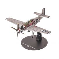 North American Mustang P-51D George Preddy 1944, macheta avion scara 1:72, argintiu, Atlas