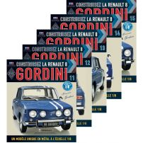 Abonament Macheta Renault 8 GORDINI nr.11, 12, 13, 14, 15 - kit construibil - EAGLEMOSS COLLECTION