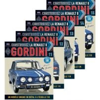 Abonament Macheta Renault 8 GORDINI nr.56, 57, 58, 59, 60 - kit construibil - EAGLEMOSS COLLECTION