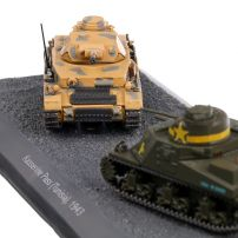"Pz.Kpfw. IV Ausf. G vs M3 ""Lee"" - The Battle of Kasserine Pass (Tunisia), 1943, machete vehicule militare, scara 1:72, Atlas"
