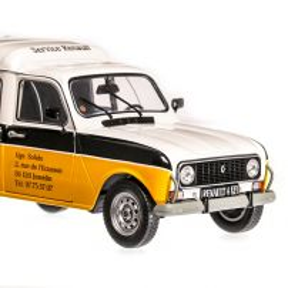 Renault  4L F4  Renault Service 1975, macheta auto scara 1:18, alb cu negru si galben, Solido