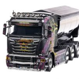 Scania R-Series 2017, macheta camion, scara 1:50, negru, Tekno