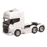 Scania R730 V8 6x4 2016, macheta cap tractor scara 1:32, alb, Welly