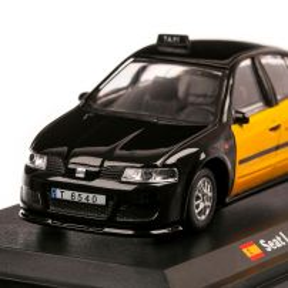 Seat Leon Barcelona Taxi 1999, macheta Taxi scara 1:43, galben si negru, Atlas