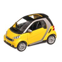 Smart Fortwo 2007, macheta auto, scara 1:24, galben, New Ray