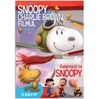 Snoopy si Charlie Brown - Carte de colorat