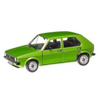 Volkswagen Golf 1 (L)  1983, macheta auto scara 1:18, verde, window box, Solido