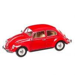 Volkswagen Beetle Classic 1967, macheta auto scara 1:24, rosu, Kinsmart